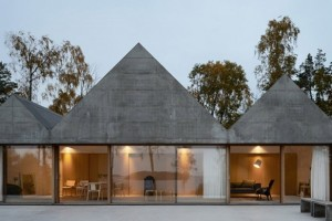 A summer home designed by the Swedish architecture firm Tham & Videgård