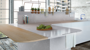 A glossy finish provides depth to a surface and to the cabinet claddings.