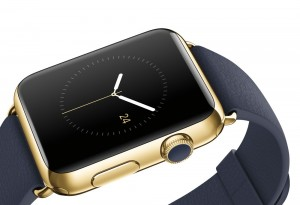 Apple Watch wirh gold and lether